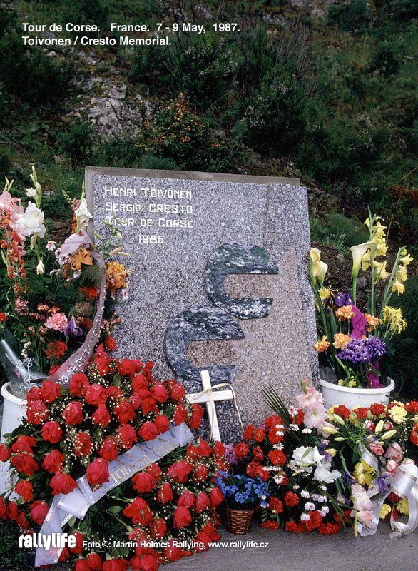 Henri Toivonen - pomníček