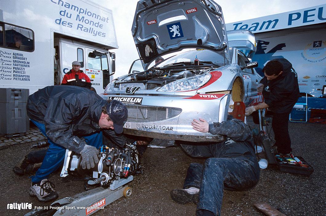 Peugeot 206 WRC servis