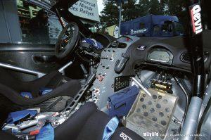 Peugeot 206 WRC kokpit