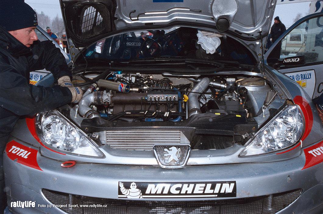 Peugeot 206 WRC motor