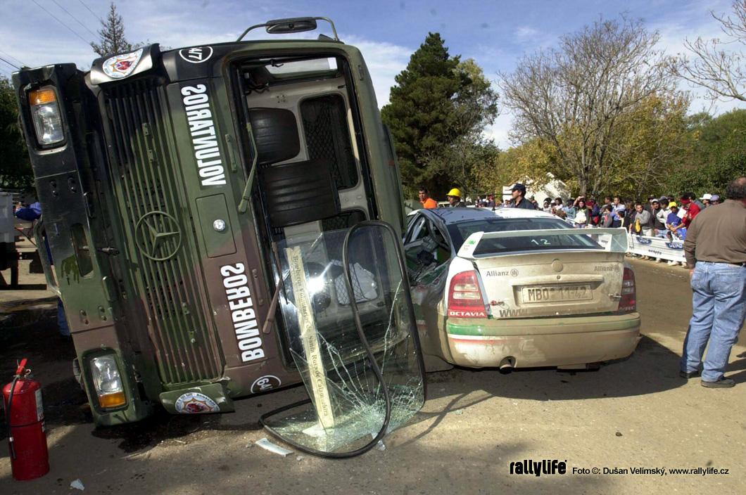 Škoda Octavia WRC crash