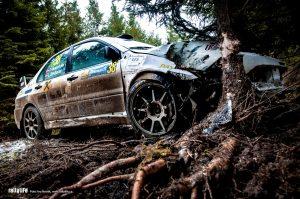 Jänner rallye 2019 Kiesenhofer crash