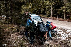 Jänner rallye 2019 BMW crash