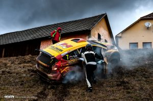 Jänner rallye 2019 Rigler crash