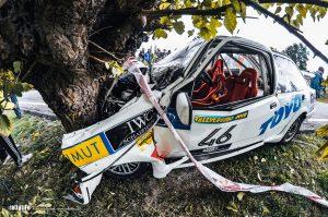Rallylegend 2010 Rossi crash