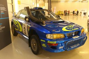 Subaru Impreza WRC Burns Kenya
