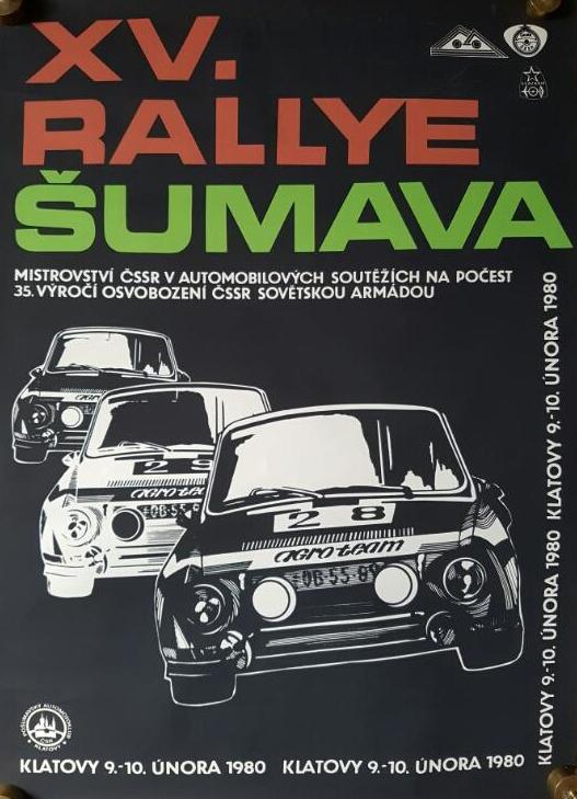 Rallye Šumava 1980 - plakát