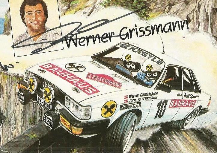 Werner Grissmann - podpisová karta