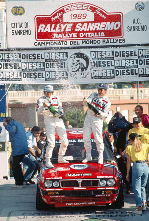 Biasion/Siviero - vítězové Rallye Sanremo 1989