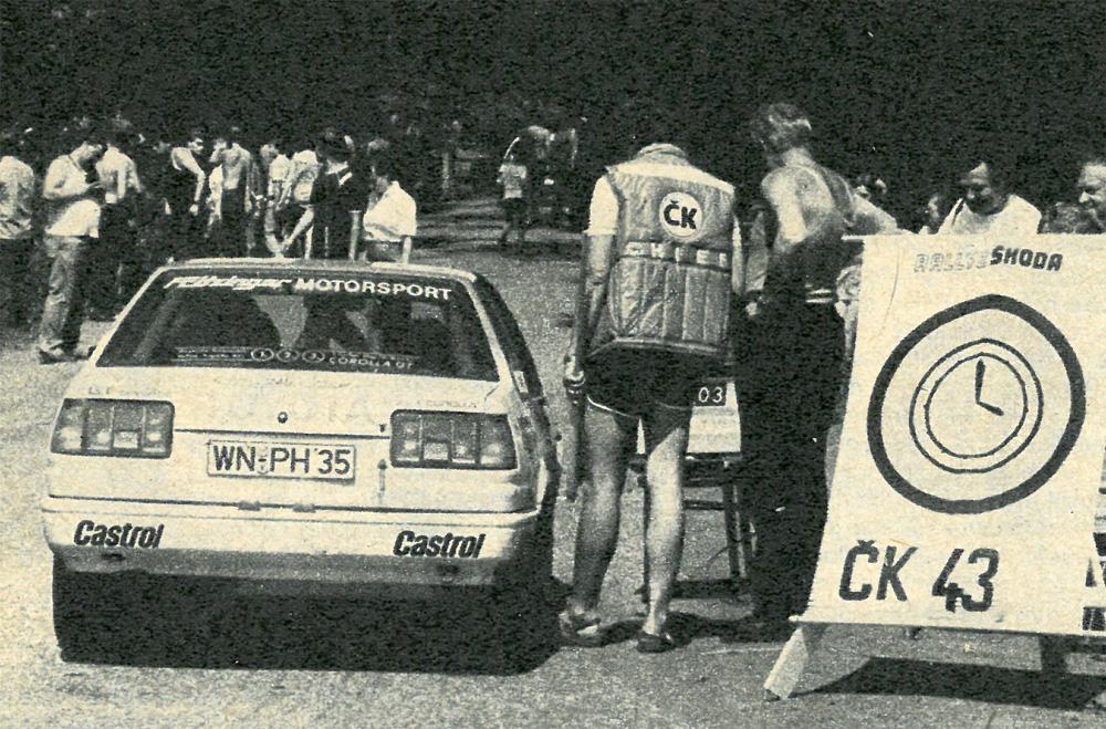 Rallye Škoda 1985 - časová kontrola