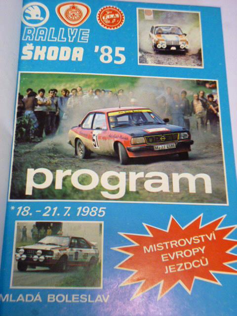 Rallye Škoda 1985 - program