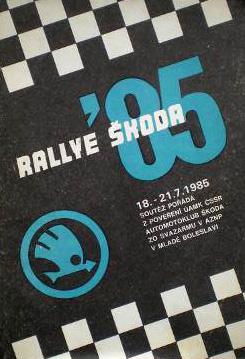 Rallye Škoda 1985