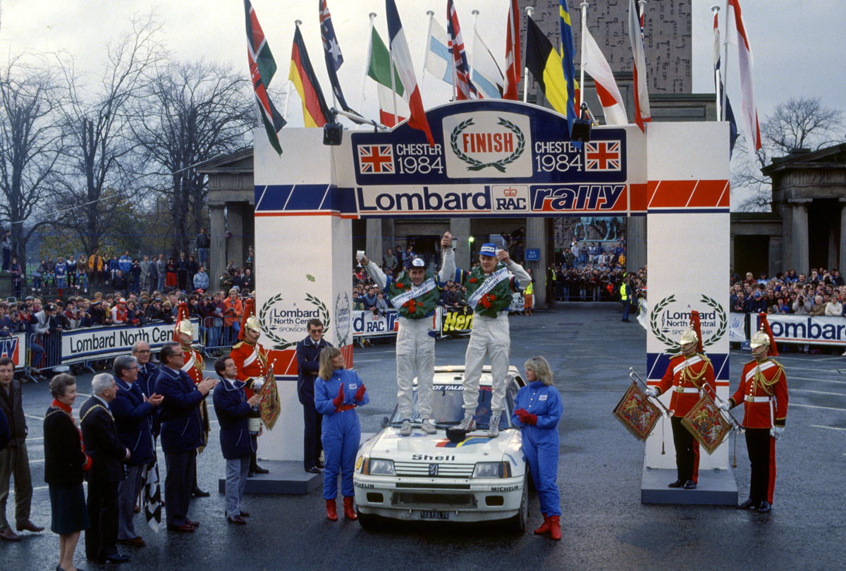 Vatanen-Harryman / RAC rally 1984 finish