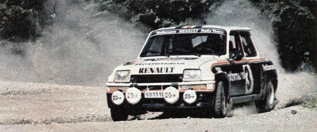 Rallye Hebros Ferjáncz Tandari Renault 5 Turbo