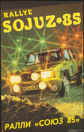 Rallye Sojuz 1985 plakát