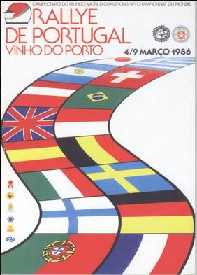 Rallye de Portugal Vinho do Porto 1986 poster