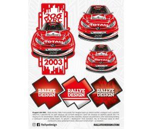 Samolepka PEUGEOT 206 WRC