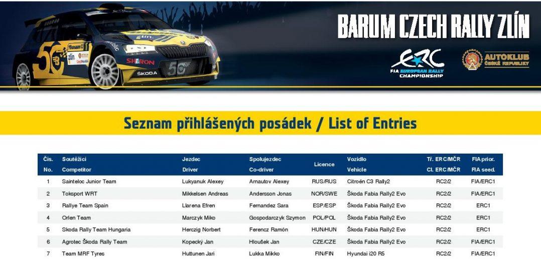 Barum Czech Rally 2021 prihlaseni banner
