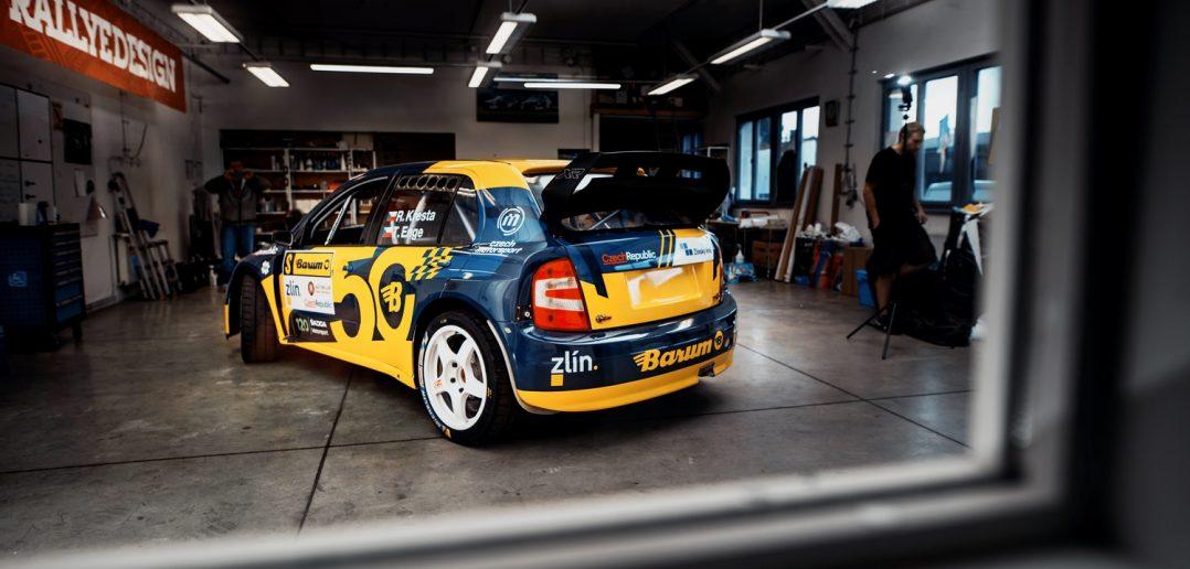 "Škoda Fabia WRC ""Barum"" backstage Rallye Design"