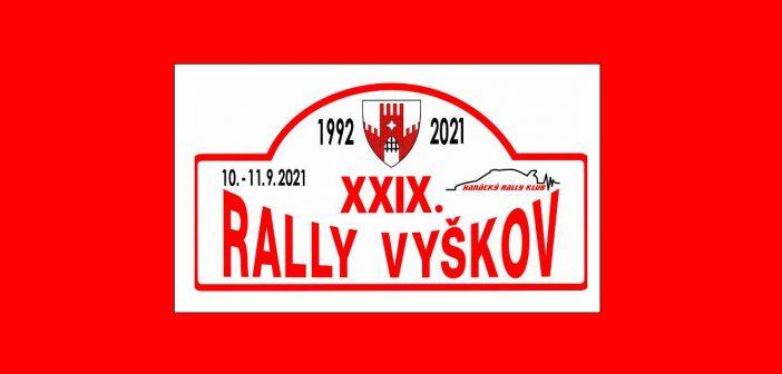 Rally Vyškov 2021 – stovka posádek se sveze na čtyřech úsecích
